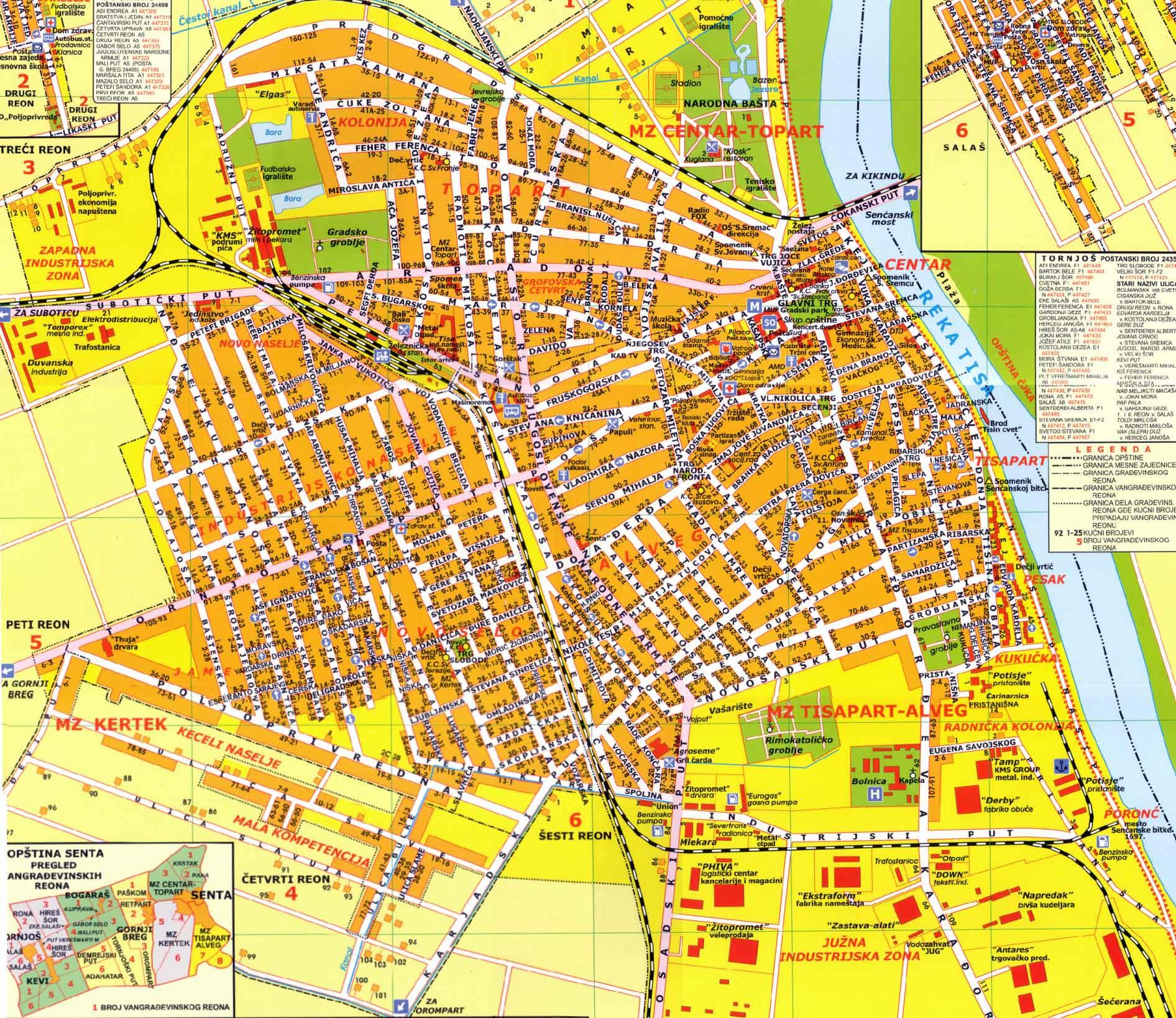 Subotica Mapa Superjoden